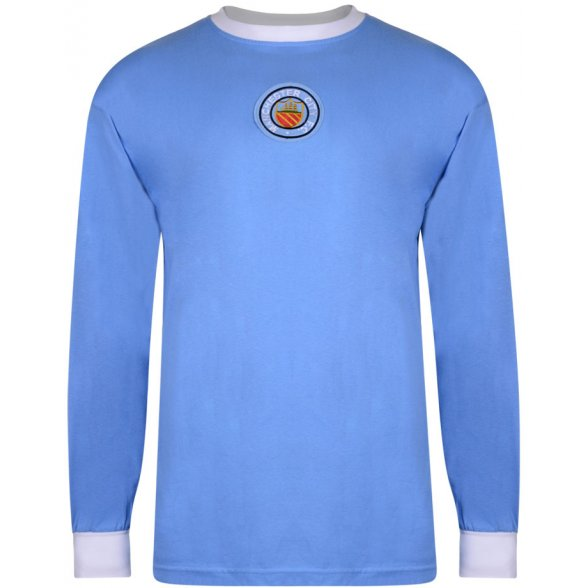 Camisola Manchester City 1970 - Manga Comprida