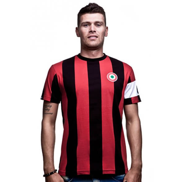 Milan Capitano T-Shirt // Black Red 100% cotton