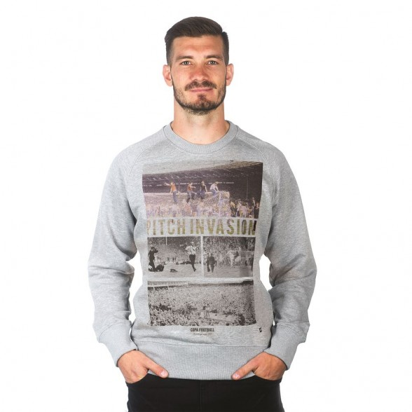 Pitch Invasion Sweater   Grey Melee
