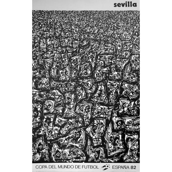 Cartel Oficial de Sevilla - La multitud de Saura