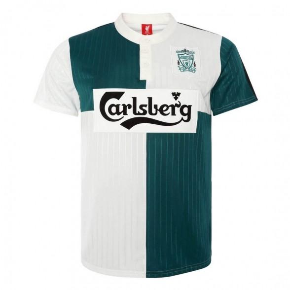 Camisola retro Liverpool FC 1995-96 Away Verde