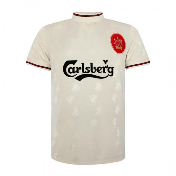 Camisola vintage Liverpool FC 1996-97 Branco Away