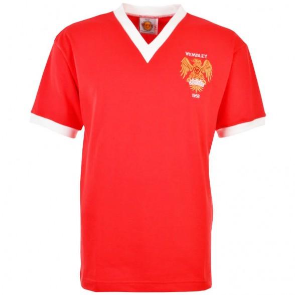 Camisola retro Manchester United 1958 FA Cup Final