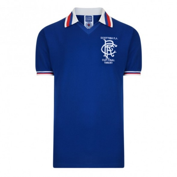 Camisola Glasgow Rangers 1980/81