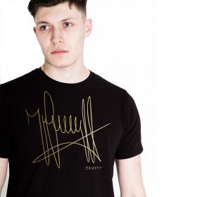 T-Shirt Cruyff assinatura Preto / Ouro