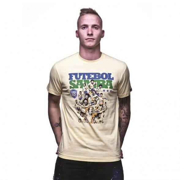 Futebol Samba T-Shirt   Yellow
